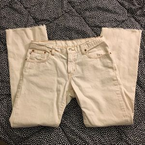 Ralph Lauren Vintage White Cropped boot cut Jeans